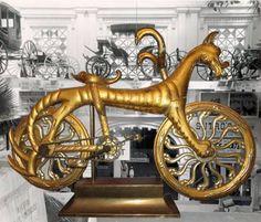 MerKabici  Rara bicicleta dorada en la forma de un caballo de mar se pondrá a la venta mediante una subasta