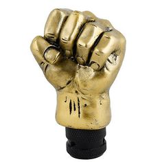 Gold Tone Plastic Fist Design Car Gear Stick Shift Knob Shifter Cover   eBay- painted into green hulk fist? V-day?