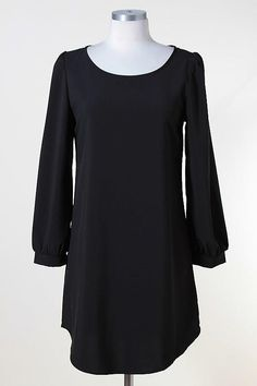 """Black Tunic Dress- $28    ** SOLD OUT**  Visit our store on Facebook and don't forget to """"like"""" us!: https://www.facebook.com/TwineandTulle"""