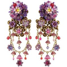 Michal Negrin Jewelry Clip On Flowers Earrings