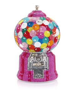 Gumball Machine Minaudiere Clutch Bag by Judith Leiber Couture at Neiman Marcus Unique Purses, Unique Bags, Unique Handbags, Judith Leiber, Bergdorf Goodman, Camera Purse, Houston Museum, Gumball Machine, Museum Of Fine Arts