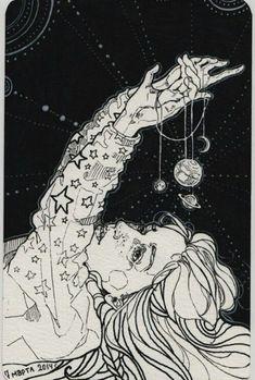 """Képtalálat a következőre: """"moon and stars drawing"""""""
