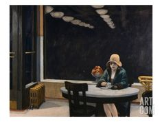 Automat Giclee Print by Edward Hopper at Art.com