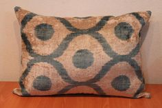 Ikat Pillow  Soft Velvet Handwoven  Decorative by TEXTILEGALLERY