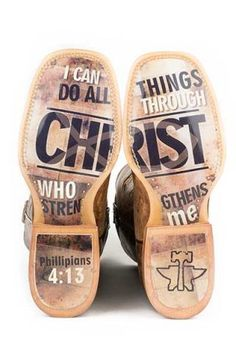 Tin Haul ....Sooo love these boots!  One of my favorite verses too!