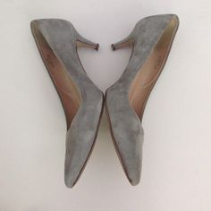"""J crew grey suede heels Excellent used condition!! Beautiful soft grey suede and 2.5"""" heels. Wear shows on insoles and bottoms but the suede is all in near perfect condition. J. Crew Shoes Heels"""