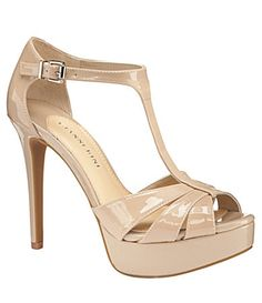 Gianni Bini Kelli T-Strap Platform Sandals  wear them all the time and they are comfortable.