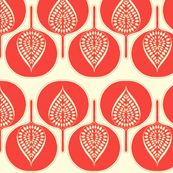 Tree Hearts by Holli_Zollinger from Spoonflower #fabric #red