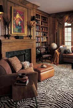 Karastan Exotics Mystical Zebra 100 % nylon much better prices than stark carpets call 'Cheryl for prices ext 2005 Interior Architecture, Interior And Exterior, Home Libraries, Living Spaces, Living Room, Interior Decorating, Interior Design, Rugs On Carpet, Carpets