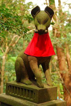 狐, kitsune @ Japan Japanese Fox, Japanese Folklore, Japanese Culture, Mystical World, Fox Girl, Hisoka, Ap Art, Japanese Pottery, Spirit Animal
