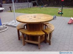tables touret en bois