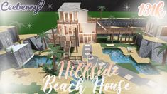 Two Story House Design, Tiny House Layout, Unique House Design, Dream Home Design, House Layouts, Beach House Plans, Family House Plans, Toddler Bed Frame, Small Beach Houses