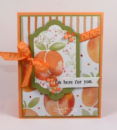 Stampin Up Fresh Fruit card by Kristi @ www.stampingwithkristi.com