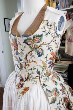 American Duchess:Historical Costuming: V251: Starting the Indienne Gown, 1780s | Historical Costuming and sewing of Rococo 18th century clothing, 16th century through 20th century, by designer Lauren Reeser