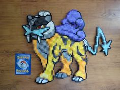 Raikou Pokemon Perler Bead Sprite by PokePerlers on Etsy