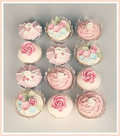 Pink sugar roses, buds, blossoms and birdcage cupcakes for a pretty wedding in a very sunny Christchurch! Rustic Wedding Groom, Rustic Wedding Save The Dates, Rustic Wedding Colors, Pink Wedding Cupcakes, White Cupcakes, Wedding Cakes, Pretty Cupcakes, Sweet Corner, Pink Frosting