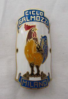 Galmozzi Milano head tube badge. When artisans ruled the world. #galmozzi