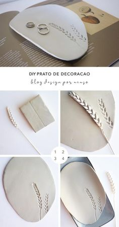 DIY Clay Coasters by Refined Design - personalized clay coasters you can make from home! Perfect craft project and gift idea for weddings, Christmas, and birthdays. Polymer Clay Crafts, Diy Clay, Polymer Clay Jewelry, Mainzu Ceramica, Clay Christmas Decorations, Cerámica Ideas, Clay Plates, Do It Yourself Inspiration, Ceramic Clay