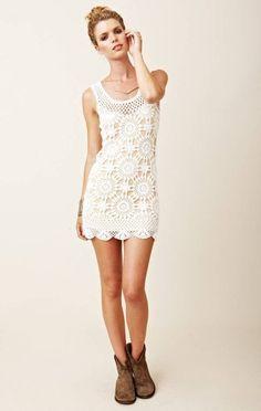 Ganchillo hecho a encargo verano vestido RI92 por CottonMystery