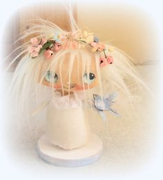 Sweet hand made hand painted Angel by suziehayward on Etsy
