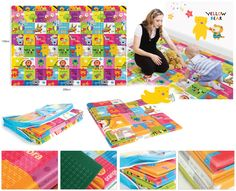 Baby & Kids PE folding Playmat - Yellow Bear (NEW) light weight, waterproof and portable PE (polyethylene) folding mat ideal for both indoor and outdoor use. It's special coating makes it easy to clean; with underside non-slip surface. The 10mm thick cushioning also provides an ideal area for toddlers to play on. Size: 2000 x 1400 x 10mm Material: PE / polyethylene (non toxic). Weight: ~1.1kg This mat is made of polyethylene, not the same as bumper playmat (made of PVC)…