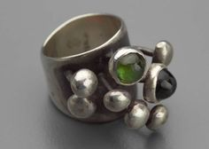 Ring | Sam Kramer, designed by Carol Kramer.  Silver, tourmaline. c. 1965