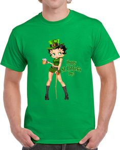 Betty Boop Happy St Patricks Day   T Shirt
