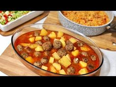 A Delicious Dinner Menu with Juicy Meatballs .- A Delicious Dinner Menu with Juicy Meatballs. This menu is both Easy and Very … Turkish Recipes, Ethnic Recipes, Meatball Soup, Dinner Menu, Kfc, Quick Easy Meals, Cheeseburger Chowder, Curry, Food And Drink