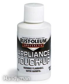 Fix scratches and chips with appliance paint - Handy Home Products for Quick-Fix Repairs  - Get the #GiftGuide: http://www.familyhandyman.com/smart-homeowner/diy-home-improvement/handy-home-products-for-quick-fix-repairs/view-all #DIY #products