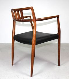 Rosewood carver chair model 64 by Niels Moller for JL Moller Denmark.