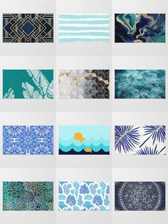 Society6 Blue Rugs - Available in three different sizes, our Rugs are the perfect accent for any room.