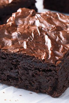 Fudge Brownies Recipe from @kingarthurflour  - I love that their recipes can be converted from volume to weight right on their site.