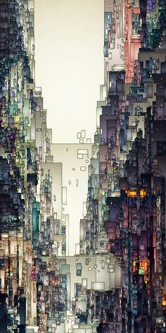Digital Art by David Hansen - Streetscape 1