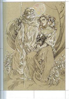 Yamada Akihiro - A Collection of Paintings artbook Fantasy World, Fantasy Art, History Of Manga, Oriental, Perspective Art, 3 Arts, Manga Pages, Fantasy Illustration, Manga Art