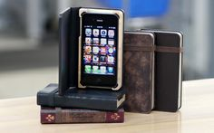 Portenzo - Alano BOOKCASE for iPhone, $59.95 (http://shop.portenzo.com/alano-bookcase-for-iphone/)