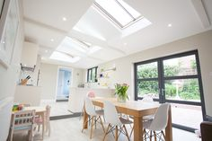 Lumen Heritage rooflights provide light for this beautiful extension designed by Tom Spriggs Architect