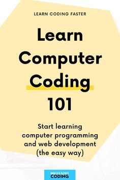 So you are new to computer coding and you want to learn more about programming and web development? Great! I put together this free coding guide for beginners to walk you through all the basics of computer coding 101 – even if have never tried coding before. Learn what programming languages are, how computers work, and what skills you should learn if you want to make money coding and work from home. I'll see you in the guide! #mikkegoes Learn Programming, Programming Languages, Computer Programming, Learn Computer Coding, Computer Basics, Design Your Own Website, Coding For Beginners, Coding Courses, Technology Careers