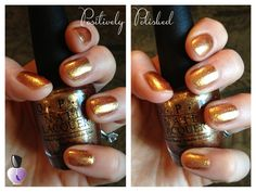 #POTM (mid-January again) - Goldeneye by OPI  Goldeneye was part of OPI's 2012 holiday lineup, the James Bond 007 Skyfall collection. This was the perfect shade to go with my BusyBee running costume for the Tinker Bell Half Marathon at Disneyland last month. I used it as a stand alone polish (no base color!) and found that three coats did the trick. It's a true yellow gold with so much sparkle!