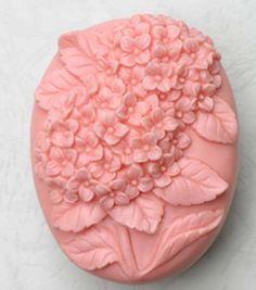 Hydrangeas handmade soap mold / silicone soap mold / via Etsy.