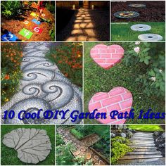10 Cool DIY Garden Path Ideas diy