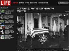 El ataúd de Kennedy en Washington - Fotos inéditas del asesinato de JFK - Libertad Digital