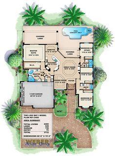 Coastal House Plan | Lido Bay Home Plan - Weber Design Group