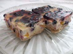 Tvarohovo - pudingové rezy s ovocím - recept | Varecha.sk