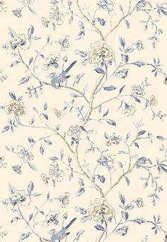 Wallcovering / Wallpaper   Annabelle Vine in Porcelain   Schumacher