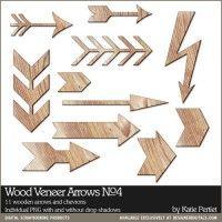 Wood Veneer Arrows No. 04