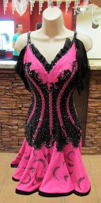 Black and Pink Corset Latin Rhythm Salsa Ballroom Dance Dress | eBay