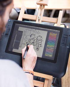 Melbourne illustrator Jeffrey Phillips - Wacom Cintiq Graphics tablet
