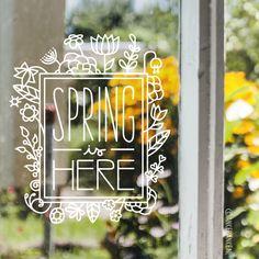 20 maart is het weer zover, Lente! Groene blaadjes, zingende vogeltjes en over beginnen de bloemen weer op te komen.. laten we het vieren met deze gave raamtekening.