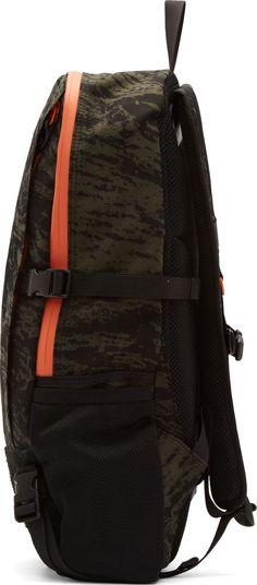 Rag & Bone Olive Camo & Black Suede Porter Edition Backpack