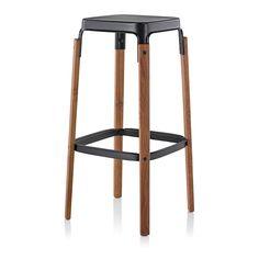 Buy The Magis Steelwood Galvanized Stool - Questo Design